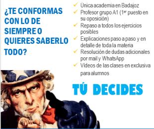 2ª Examen Oposiciones Técnico Informática Junta de Extremadura